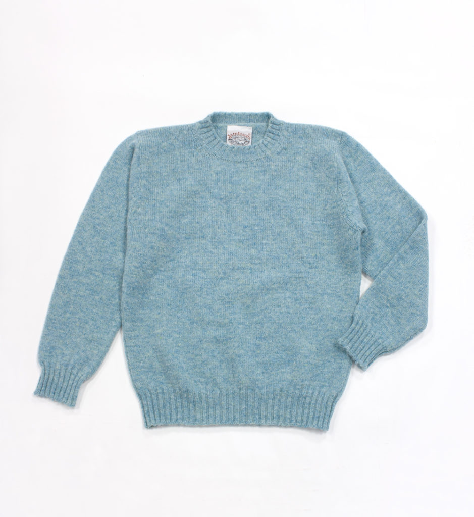 ジャミーソンズシェットランドクルーネックセーターサーフ