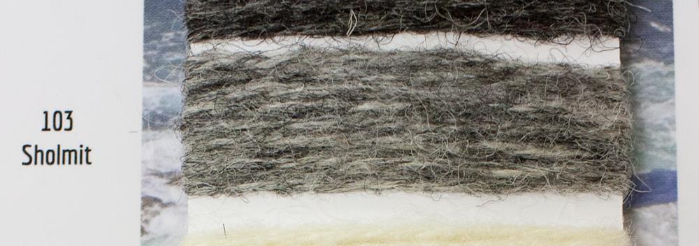 ジャミーソンズシェットランドクルーネックセーターショルミットは無染色のシェットランドセーター